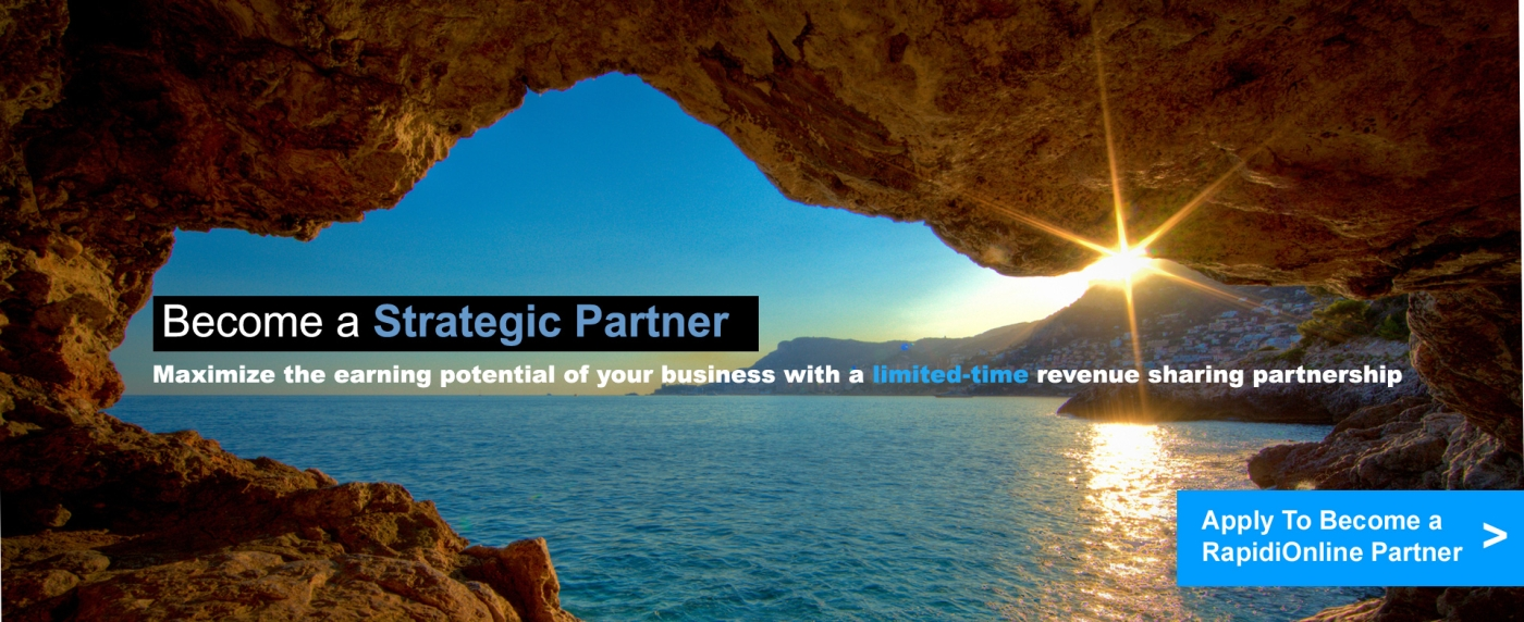 Become a strategic RapidiOnline Partner