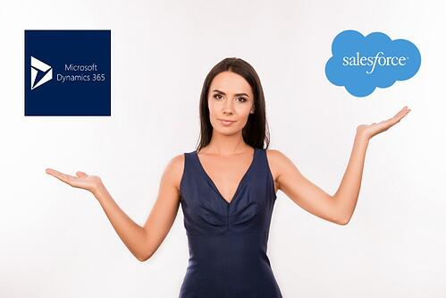 weigh your options: salesforce CRM vs Microsoft Dynamics CRM 365