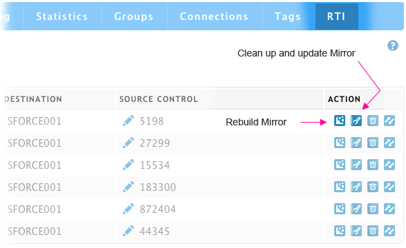 rebuild and clean up mirror feature