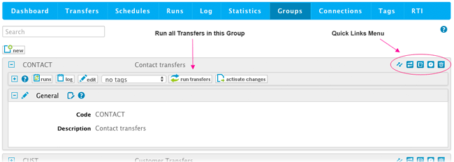 Run a Group of Transfers
